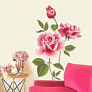 Xbwy Amore Romantico 3D Rose Flower Blossom Wall