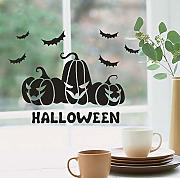 Xbwy Happy Halloween Bat Wall Sticker Finestra