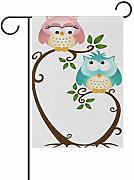 XiangHeFu Bandiera da giardino Love Owl Couple