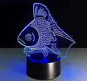Xiujie Luce Notturna 3D Gold Fish Led Night Light