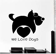 Xxscz We Love Dogs For Pet Shop Logo Sign Funny