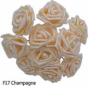 Ybqy Foam Rose Flower 25 Teste 8CM New Colorful PE