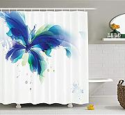Yeuss Abstract Decor Shower Curtain, Ombre