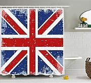Yeuss British Shower Curtain, Abstract England