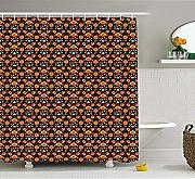 Yeuss Ethnic Shower Curtain, Stile Counrty Russo,