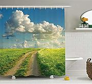 Yeuss Summer Shower Curtain, Summer Sunshines