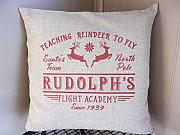 Yilooom Rudolph Flight School - Federa per Cuscino