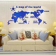 Yirenfeng 3D Acrylic World Map Wall Sticker For