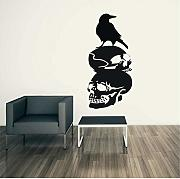 Yirenfeng Halloween Crow Background Wall Sticker