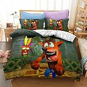 YOMOCO Crash Bandicoot - Set di biancheria da
