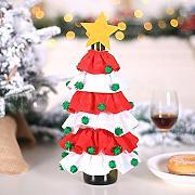 Rosso Decorazioni di Bottiglie perfette per Tavolo di Natale 3 Pezzi Copribottiglie di Vino Sacchetti di Bottiglia di Vino di Natale