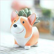 ZHENAO Divertente Cute Dog Forma Flower Pot Box
