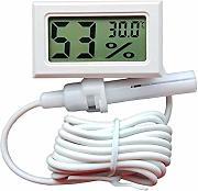 BIlinli Sensore Digitale per Cavo da 1,5 m per Veicoli con termometro Esterno da 12 V Display LCD da Mini Auto Digitale