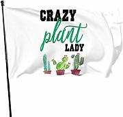 Zikely Banner Decorativo Crazy Plant Lady Flags