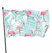 Zikely Banner Decorativo Flamingo And Plant