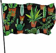 Zikely Banner Decorativo Green Potted Plant