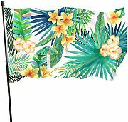 Zikely Banner Decorativo Tropical Plant Green