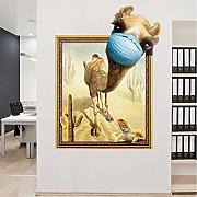 Zlxzlx 3D Fun Camel Wall Sticker Camera Da Letto
