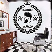 Zlxzlx Art Barber Shop Decorazione Wall Stickers