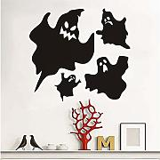 Zlxzlx Fantasmi Spaventosi Halloween Party Decalcomania Della Finestra Moderna L Adesivi Per Camera Da Letto Salotto Home Decor Impermeabile Accessorio Lpaper 44 * 40Cm