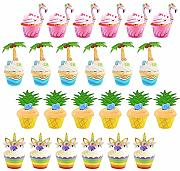 ZoomSky 48 Pcs Cupcake Topper Wrapper Cupcake