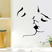 Zxfcccky Lover Kissing Silhouette Wall Sticker