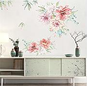 Zxfcccky Romantico Colorful Peony Flowers 3D Wall