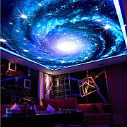 Zybnb  3D Photo Wallpaper Galaxy Star Soffitto