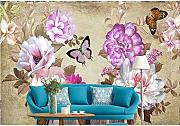 Zyzdsd  Fashion Peony Flowers Murales Wallpapers